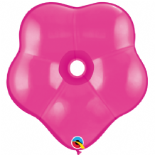 Wild Berry Geo Blossom Balloons - (16 Inch) Qualatex 5pcs